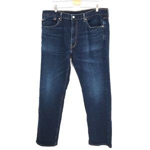 Levi's 505 regular straight leg fit Jeans dark wash Blue 38 W38 L32 38x32 Men's